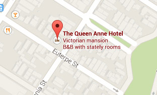 Queen Anne Hotel - The Queen Anne Hotel - Decorated with magnificent mirrors, elegant carpets and a 15 foot tapestry   overlooking a sweeping center staircase, The Queen Anne Hotel combines the   best of ...